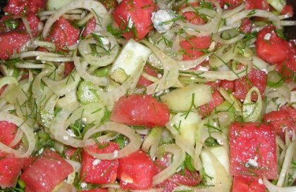 Fennel, Watermelon and Blue Cheese Salad