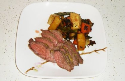roast beef and roasted veggies