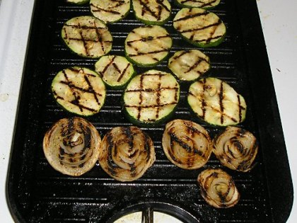 zucchini and onions